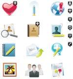 Vektorsozialmedia-Ikonenset Lizenzfreie Stockfotografie