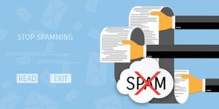 Vektorspamming-Netzikone Lizenzfreie Stockfotografie