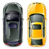 Vektorspanischautos. Lizenzfreie Stockbilder
