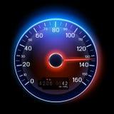VektorSpeedometer Royaltyfri Fotografi