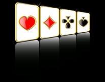 Vektorspiel-Kartenset Stockfotos