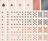 Vektorspielkarten 1 bis 10 Stockfotos