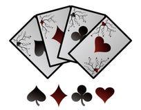 Vektorspielkarten. Lizenzfreies Stockbild