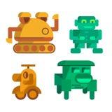 Vektorspielzeug-Roboterikonen lizenzfreie abbildung