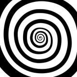 Vektorspiral, bakgrund Hypnotisk dynamisk virvel Arkivbilder