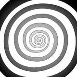 Vektorspiral, bakgrund Hypnotisk dynamisk virvel Fotografering för Bildbyråer