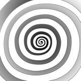 Vektorspiral, bakgrund Hypnotisk dynamisk virvel Royaltyfri Fotografi