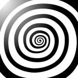 Vektorspiral, bakgrund Hypnotisk dynamisk virvel Arkivbild