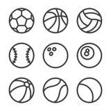 Vektorsportöversikten lurar uppsättningen vektor illustrationer