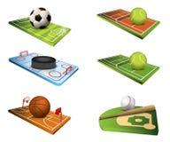 Vektorsportfelder Lizenzfreies Stockbild