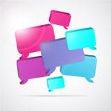 Vektorsprache-Blasenhintergrund mit Textraum Stockfotos