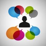 Vektorsprache-Dialogleute ENV Stockfotografie