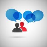 Vektorsprache-Dialogleute ENV Stockfoto