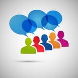 Vektorsprache-Dialogleute ENV Stockbild