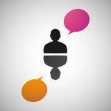 Vektorsprache-Dialogleute ENV Lizenzfreies Stockbild