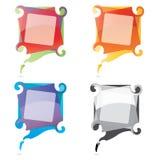 Vektorsprache-Luftblase Set2 Stockfotografie