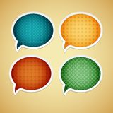 Vektorspracheblase Stockbild