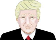Vektorstående av Donald Trump 3 Arkivbild