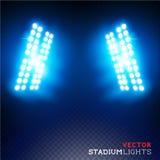 Vektorstadionflodljus Fotografering för Bildbyråer