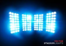 Vektorstadionflodljus Arkivfoto
