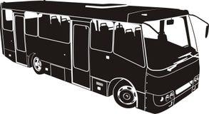 Vektorstadt-Busschattenbild stock abbildung