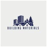 Vektorstadt-Gebäudeikonen Lizenzfreie Stockbilder