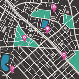 Vektorstadtplan Stockbild
