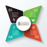 Vektorstern für infographic Stockfotografie