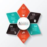 Vektorstern für infographic Lizenzfreies Stockfoto