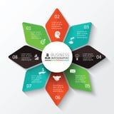 Vektorstern für infographic Lizenzfreie Stockbilder