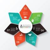 Vektorstern für infographic Stockbilder
