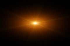 Vektorstern, Sonne mit Objektivaufflackern Lizenzfreies Stockfoto