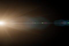 Vektorstern, Sonne mit Objektivaufflackern Lizenzfreie Stockbilder
