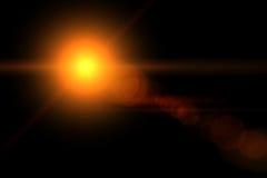 Vektorstern, Sonne mit Objektivaufflackern Lizenzfreies Stockbild