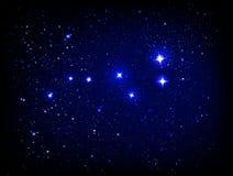 Vektorsternenklarer Himmel mit Ursa Major Stockfoto