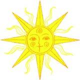Vektorstilisiert Sonne Stockfoto