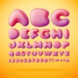 Vektorstilsort som göras från ballonger alfabet Arkivfoto