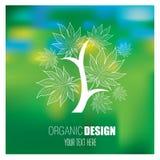 Vektorstilvoller Blumenhintergrund, Logo Lizenzfreie Stockfotografie