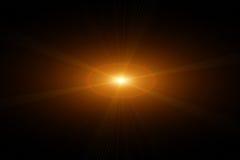 Vektorstjärna, sun med linssignalljuset Royaltyfri Foto