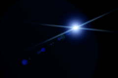 Vektorstjärna, sun med linssignalljuset Arkivfoto