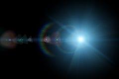 Vektorstjärna, sun med linssignalljuset Royaltyfri Fotografi