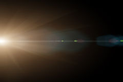 Vektorstjärna, sun med linssignalljuset Royaltyfria Bilder