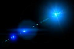 Vektorstjärna, sun med linssignalljuset Royaltyfri Bild