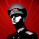 Vektorstolzer Soldat Lizenzfreie Stockfotos