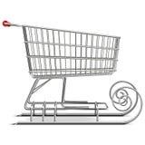 Vektorsupermarketsläde stock illustrationer