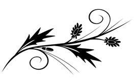 Vektorsvartfilial för design Royaltyfria Bilder