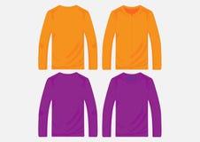 Vektorsweatermallar Royaltyfri Illustrationer