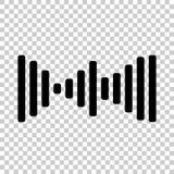 Vektorsymbol av den solida vågen, ljud Arkivfoto