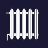 Vektorsymbol av elementet, batteri för rumuppvärmning Royaltyfri Fotografi