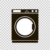 Vektorsymbol av en tvagningmaskin Arkivfoto